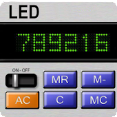 Vintage LED Calculator