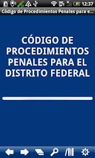Penal P. Code Distrito Federal - screenshot thumbnail