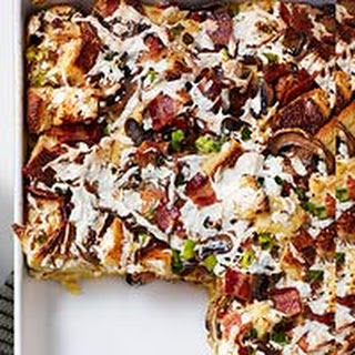 Bacon, Mushroom & Smoked Mozzarella Strata