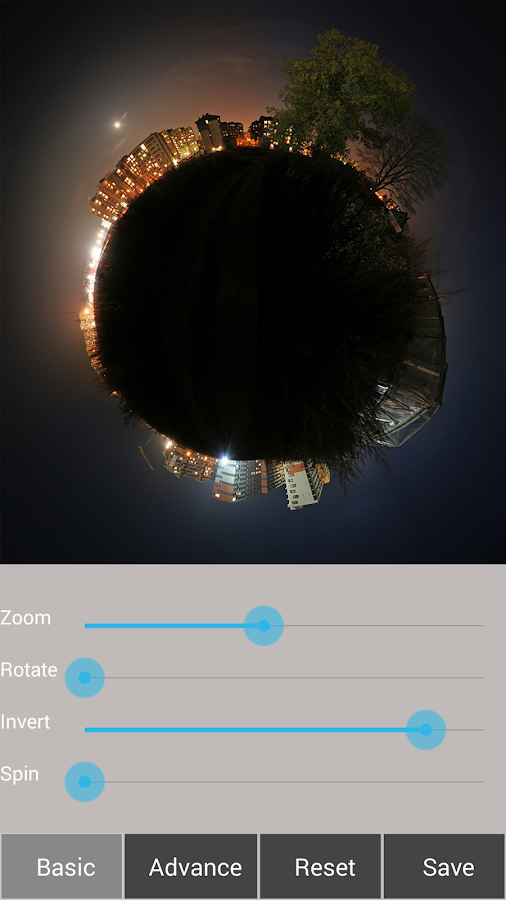 Tiny Planet FX Pro - screenshot