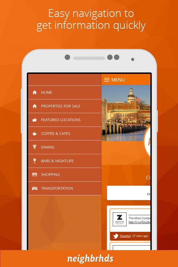 Screenshots of Annapolis for iPhone