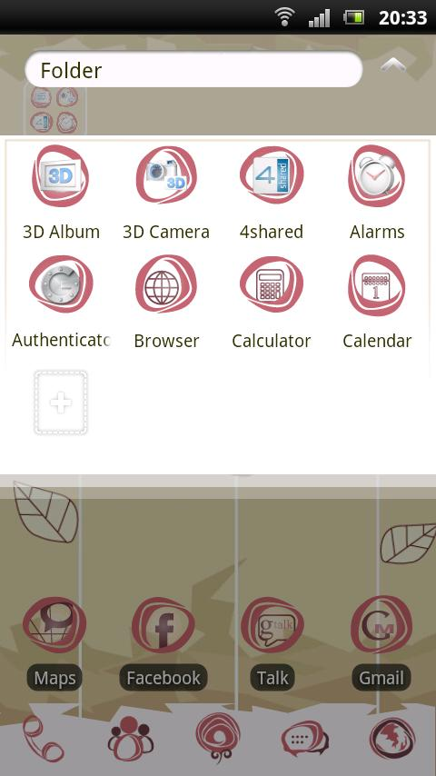 Rose GO Launcher EX Theme - screenshot