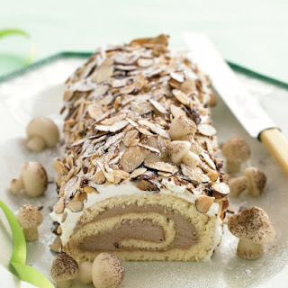 Chocolate and Nut Yule Log.