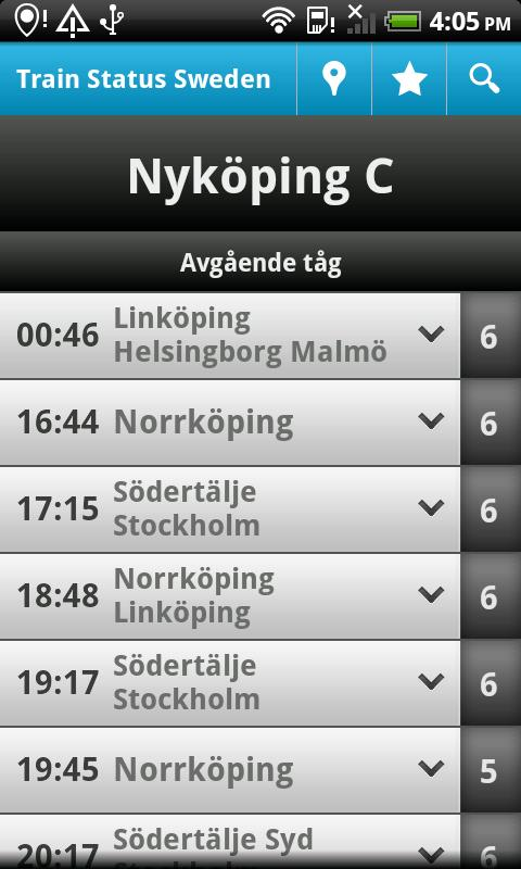 Train Status Sweden - screenshot
