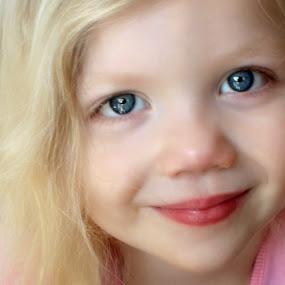 Smile by Maureen Rueffer - Babies & Children Children Candids ( girl, blue, lips, toddler, eyes,  )