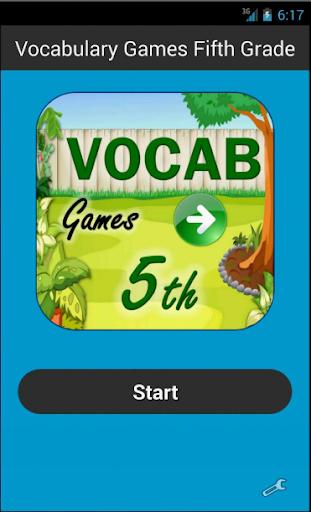 Vocabulary Games Fifth Grade