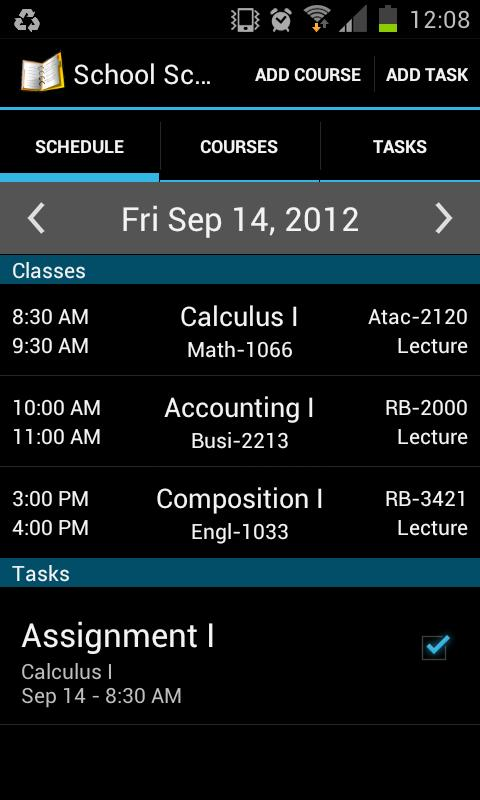 School Scheduler - screenshot