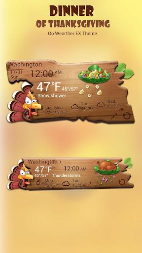 玩免費天氣APP|下載Dinner of Thanksgiving Theme app不用錢|硬是要APP