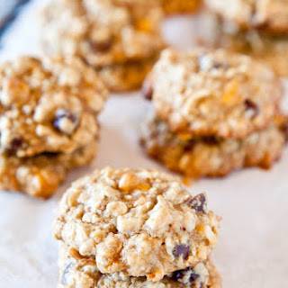 Coconut Oatmeal Toffee Cookies – with Heath Bar Bits, Chocolate Chips, and Butterscotch Chips (with Vegan and Gluten Free suggestions).