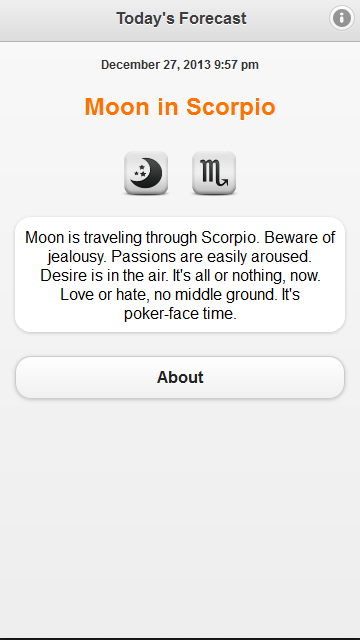 Daily Moon Forecast- screenshot