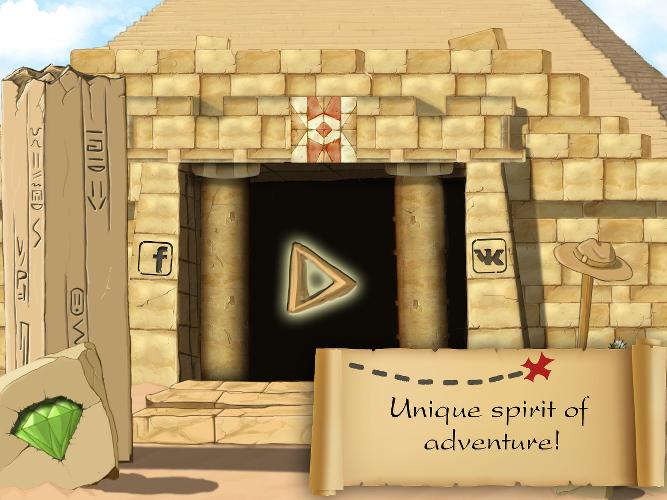 Rick Run : Find the treasure- screenshot