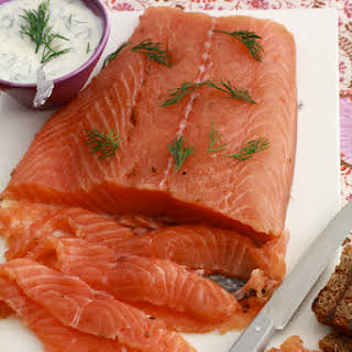 Marinated Salmon with Spices and Vodka.
