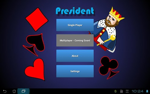 president game card online