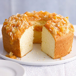 Pineapple Cake with Macadamia-Apricot Topper.