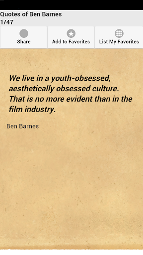 Quotes of Ben Barnes