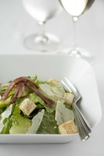 Bistro5_Caesar_salad - A Caesar salad at Celebrity's Bistro on Five.