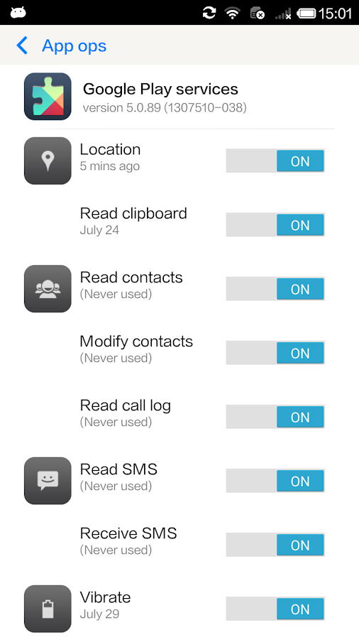 Permission Manager - App ops- screenshot