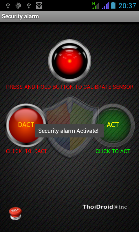 Anti theft Security alarm pro- screenshot
