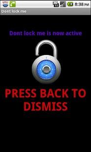 Dont lock me- screenshot thumbnail
