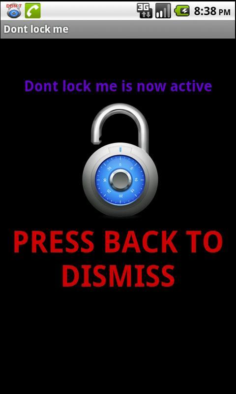 Dont lock me- screenshot