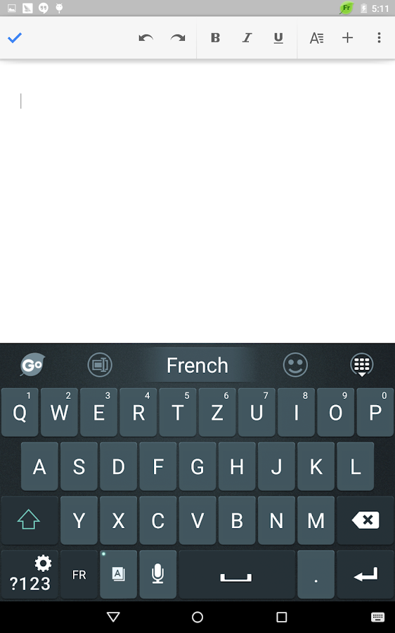 French Language - GO Keyboard- screenshot