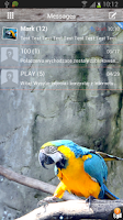 Screenshot of GO SMS Pro Zoo Animals Theme