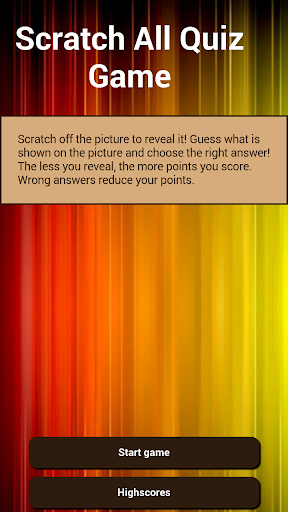 Scratch All Quiz Game