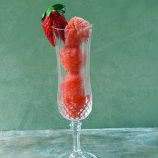 Champagne Sorbet with Berry Medley.