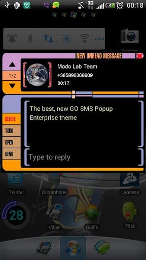 Enterprise GO SMS Popup theme