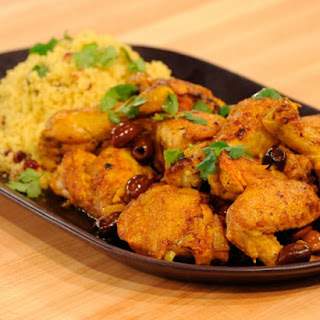 Moroccan Chicken Tagine with Cranberry-Curry Couscous
