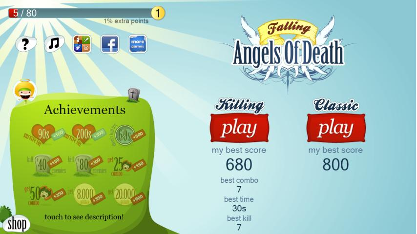 Falling Balls (Angels edition) - screenshot