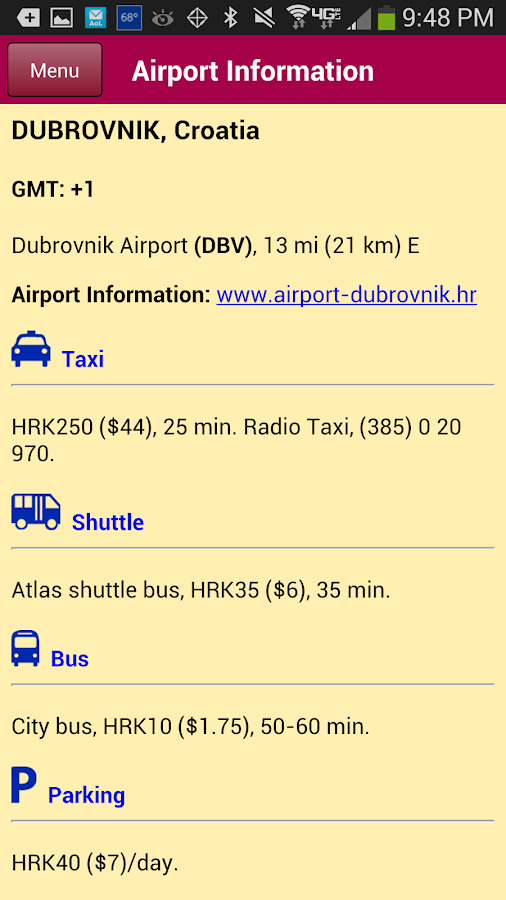 Airport Transit Guide- screenshot
