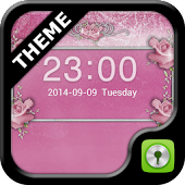 GO Locker Pink Roses Theme