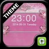 GO Locker Pink Roses Theme