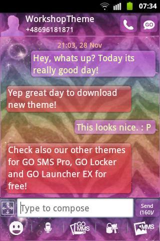 のテーマをシマウマ GO SMS Pro