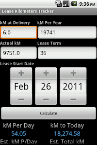 Lease Kilometers Tracker screenshot 0