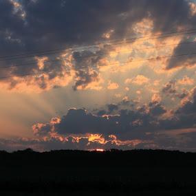 God's Beauty by Sherrie Erickson Dunford - Landscapes Sunsets & Sunrises