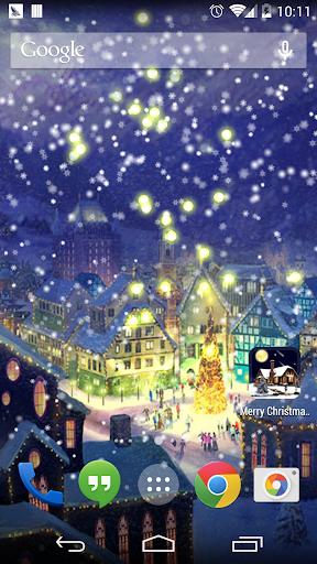 雪快乐聖誕树壁紙