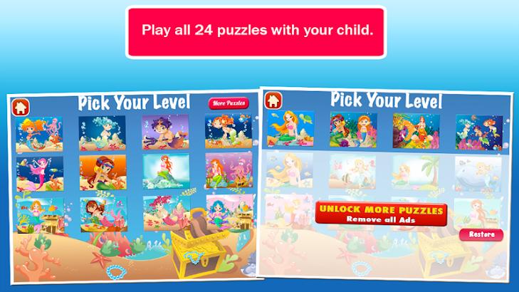 Mermaid Ashley Puzzles- screenshot thumbnail