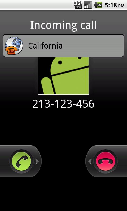 City, Country, Caller ID- screenshot