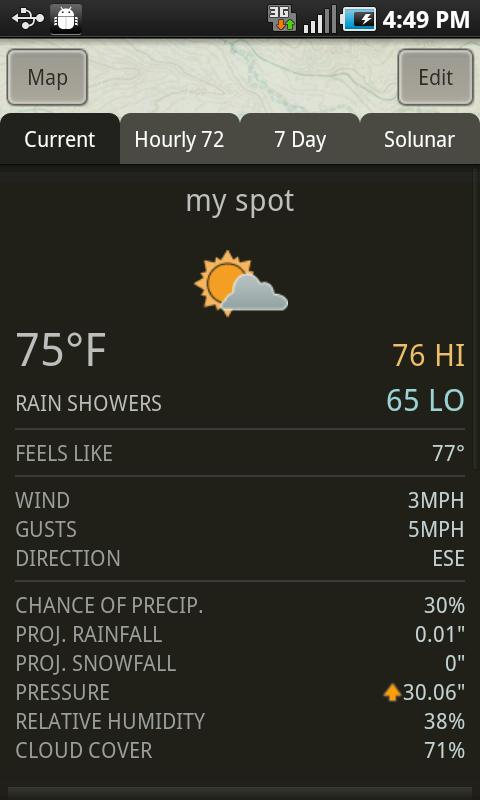 ScoutLook® Hunting Weather - screenshot