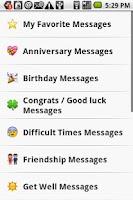 Screenshot of Sweet Card Messages