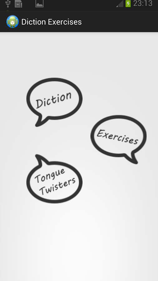 Diction Exercises- screenshot
