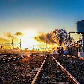 Steam Train ahead by Rob Vandongen - Transportation Trains (  )