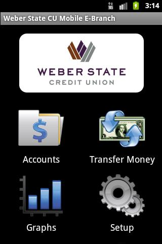 Weber State CU Mobile E-Branch - screenshot