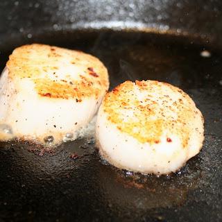 Sambuca Seared Scallops with Shiitake Truffle Cream.