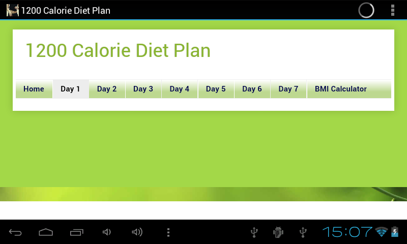 1200 Calorie Diet Plan - screenshot