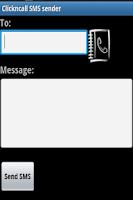 Screenshot of ClicknCall SMS sender