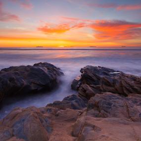 Starships by João Freire - Landscapes Sunsets & Sunrises ( landscap, sunset, alentejo, travel, beach, portugal, são torpes, rocks, sines,  )