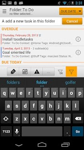 toodleTasks PE for Toodledo- screenshot thumbnail